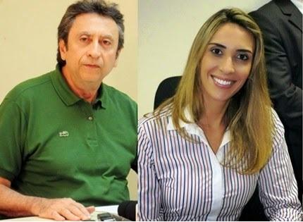 Ricardo e sua filha Andréa estão isolado no PMDB