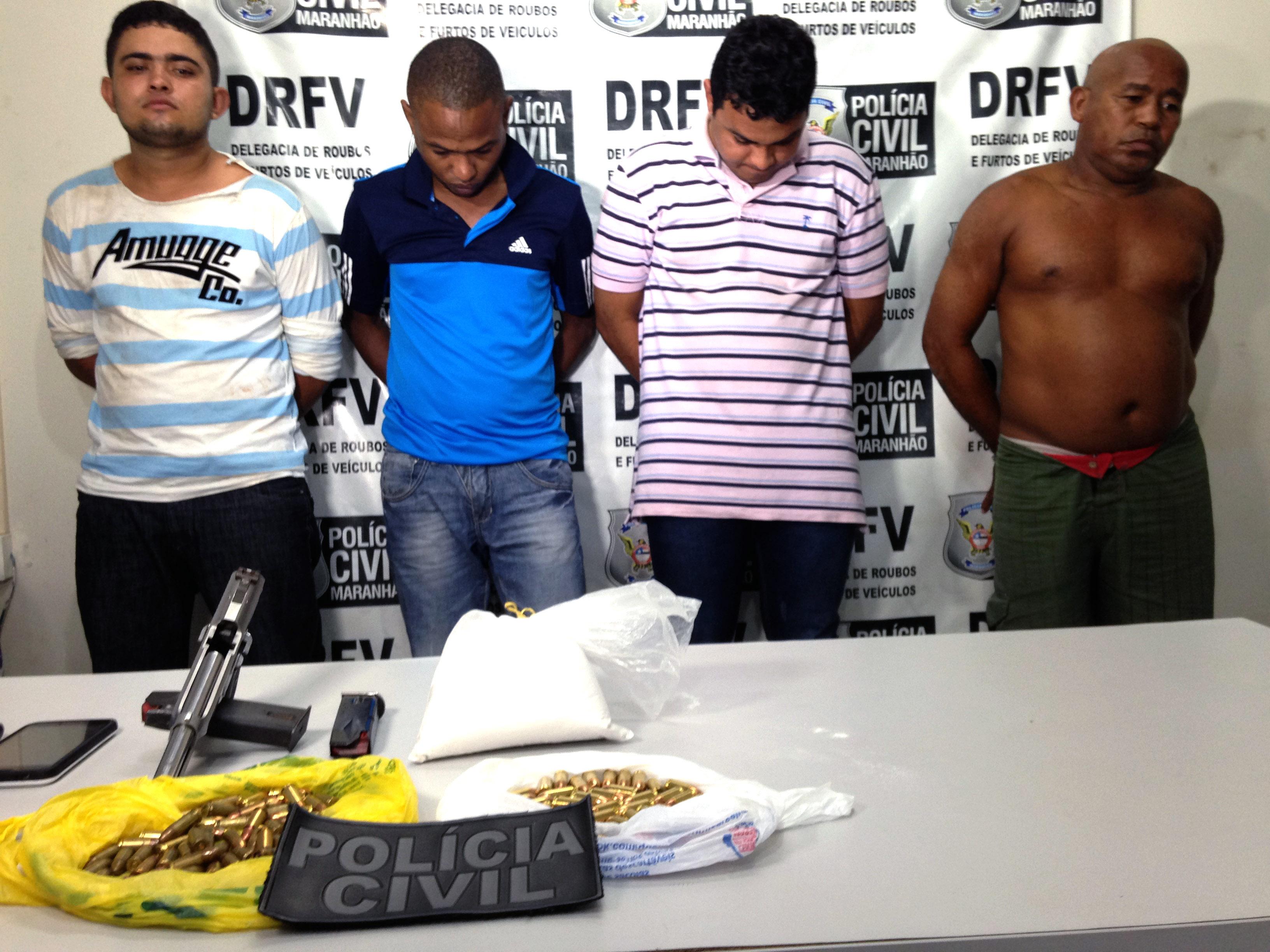 presos na operação da Polícia Civil