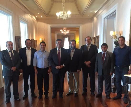 Governador Flávio Dino recebeu hoje no Palácio dos Leões líderes do PDT